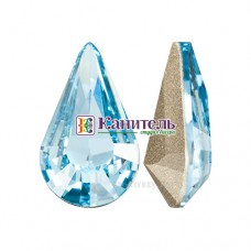 XILION Pear Stone SWAROVSKI 10х6mm Aquamarine /4328/