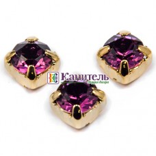 Chaton Montees SWAROVSKI 6mm Amethyst /Gold/
