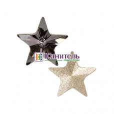 Rivoli Star Fancy Stones SWAROVSKI 5mm Crystal Silver Night /4745/