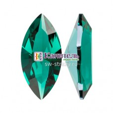 XILION Navette SWAROVSKI 10х5mm Emerald Ignite /4228/
