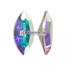 XILION Navette SWAROVSKI 15х7mm Crystal AB /4228/