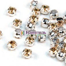 Chaton Montees SWAROVSKI 4mm Crystal Golden Shadow /Silver/