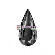 Teardrop Fancy Stones SWAROVSKI 10х5mm Crystal Silver Night /4322/