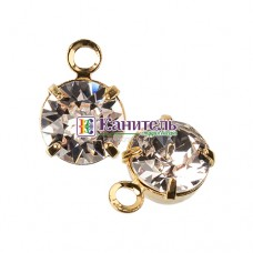 Chaton Montees SWAROVSKI 6mm Crystal c ушком /Gold/