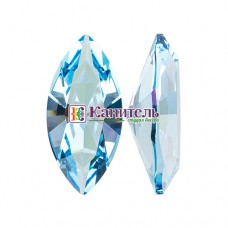 XILION Navette SWAROVSKI 15х7mm Aquamarine Ignite/4228/