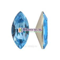 XILION Navette SWAROVSKI 15х7mm Aquamarine /4228/