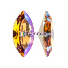 XILION Navette SWAROVSKI 15х7mm Light Colorado Topaz Shimmer /4228/