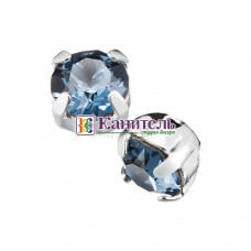 Chaton Montees SWAROVSKI 6mm Denim Blue /Silver/