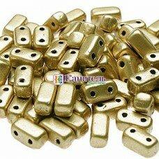 Bricks 3x6мм Matte - Metallic Flax /1/